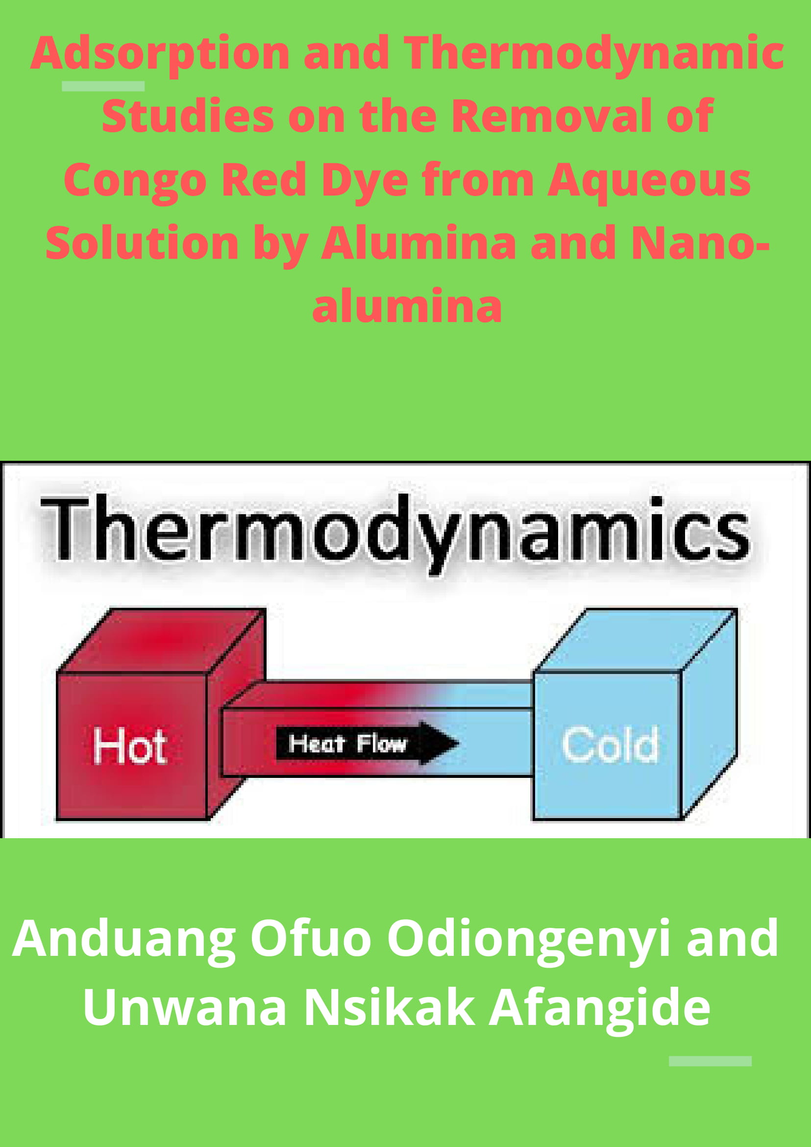 Adsorption and Thermodynamic Studies on the Removal of Congo Red Dye from Aqueous Solution by Alumina and Nano-alumina image